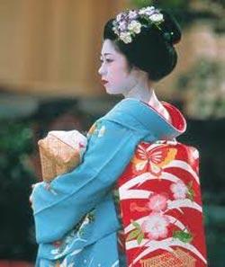 Donna in kimono